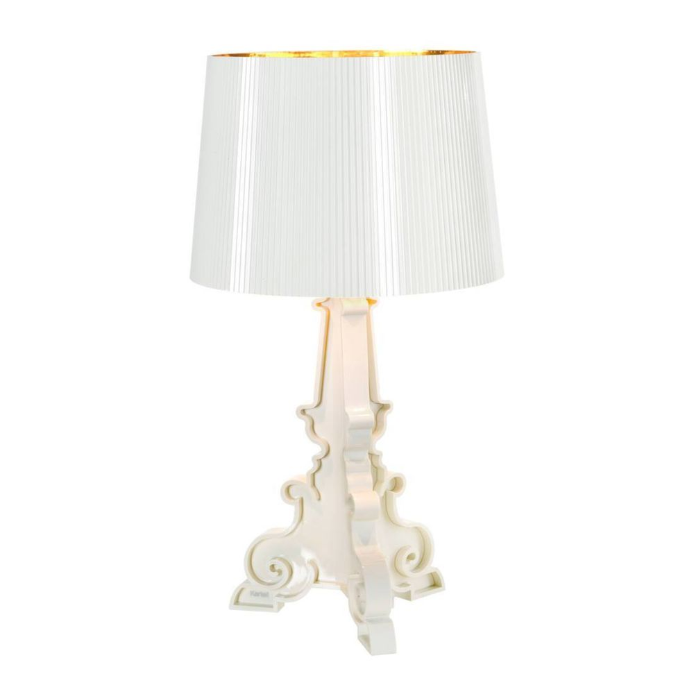 Kartell BOURGIE - Lampe à poser Blanc/Or H68-78cm