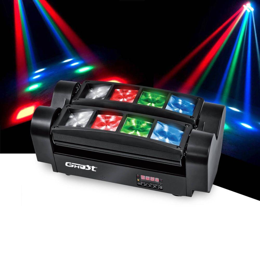 Ghost Mini Double BARLED à LEDs RGBW 8x3W - DMX - GHOST MICROSPID