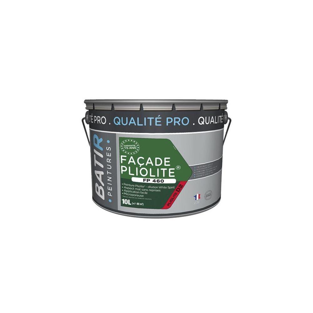 Batir Peintures Peinture pliolite Mat pour façade 10 L - Blanc - BAT111202 - Batir