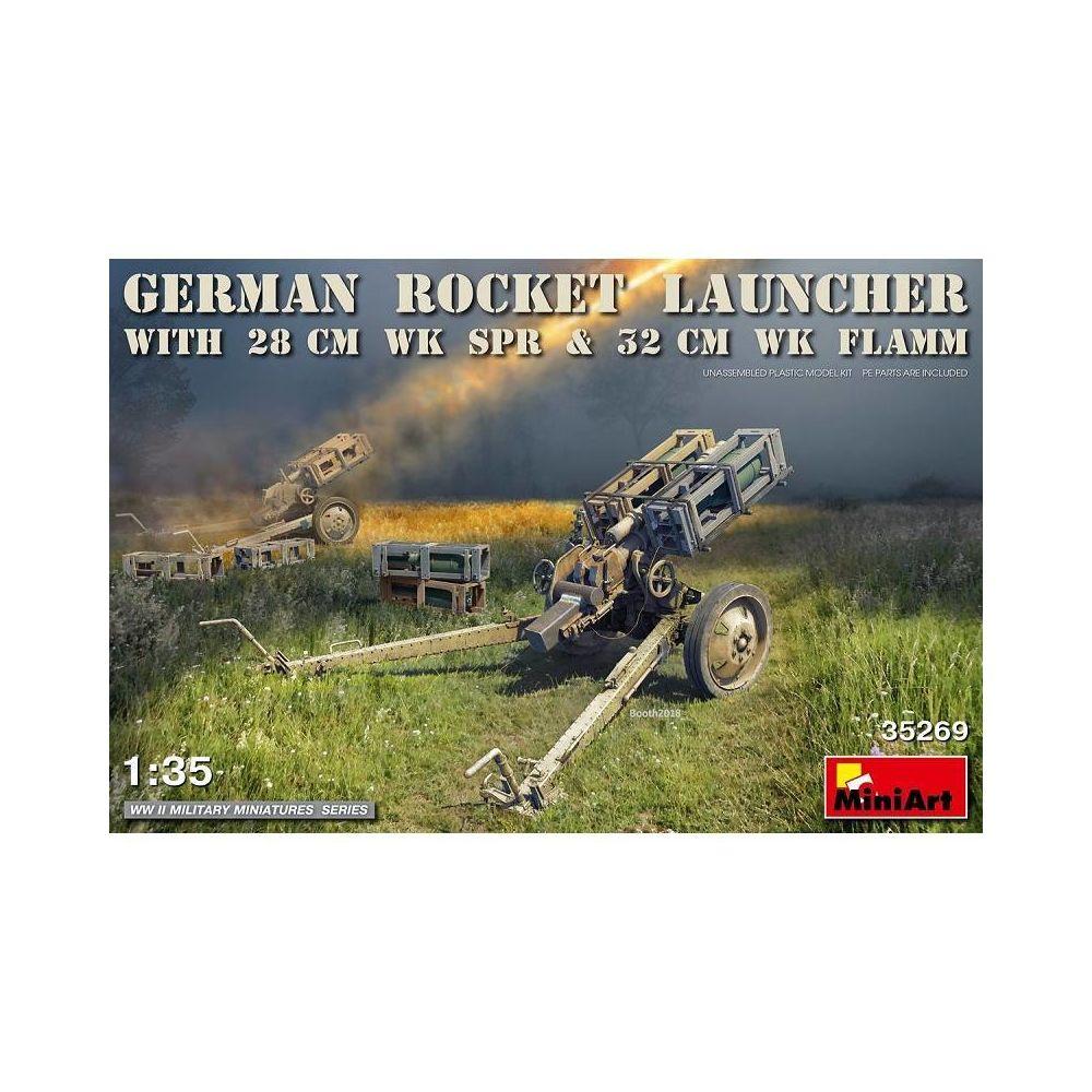 Mini Art Maquette Canon German Rocket Launcher With 28cm Wk Spr & 32cm Wk Flamm