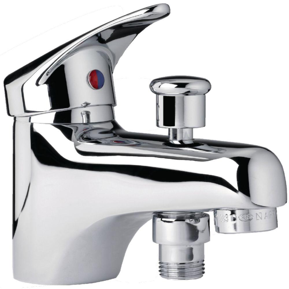 Alterna mitigeur bain / douche - alterna mezzo 2 - monotrou - cartouche céramique avec point dur - manette métal