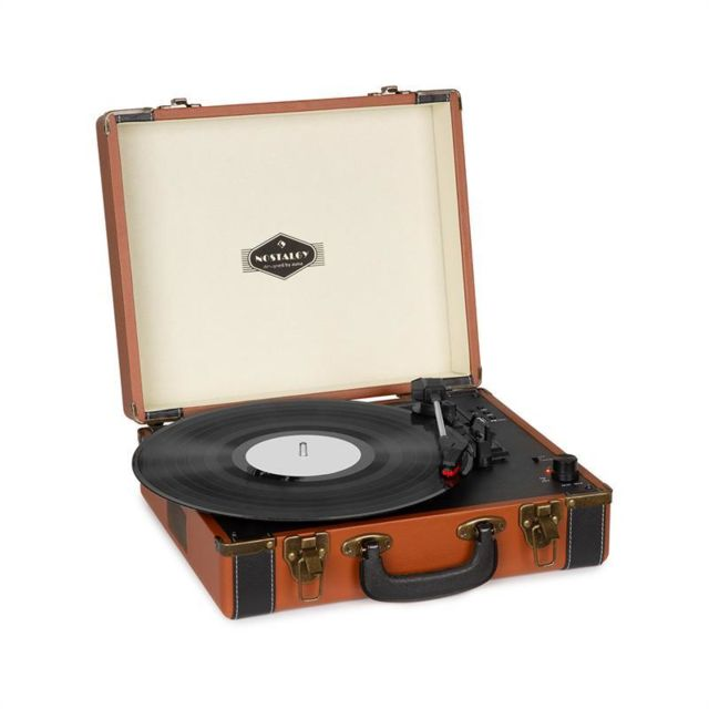 Auna - auna Jerry Lee BT Platine vinyle Bluetooth USB enregistrement & lecture marron Auna - Matériel hifi