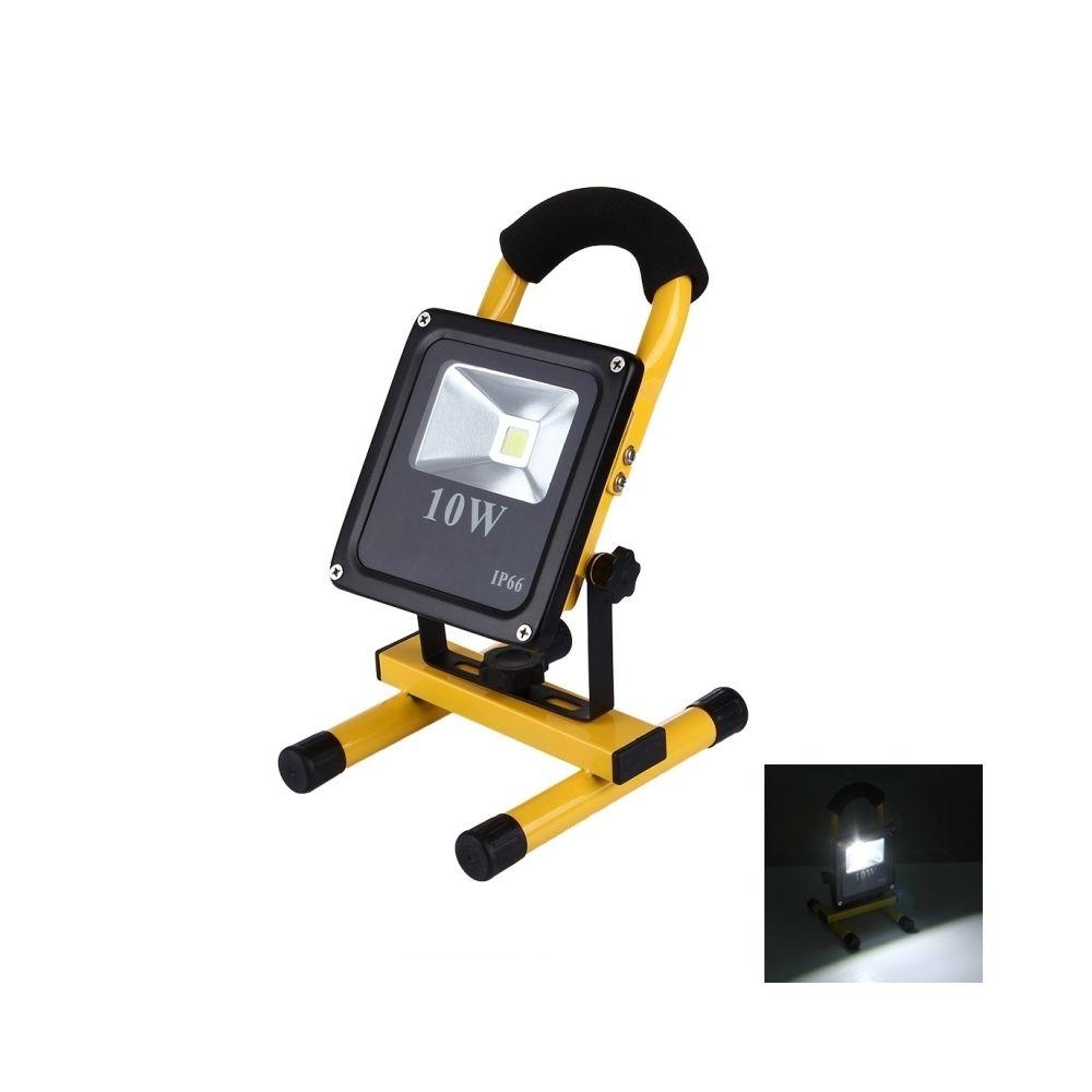 Wewoo Projecteur LED 10W 900LM IP66 imperméable à l'eau Rechargeable Slim lampe de poche projecteur, AC 100-250V lumière blanc