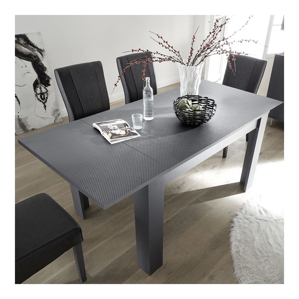 Kasalinea Table 140 cm extensible grise PALERMO