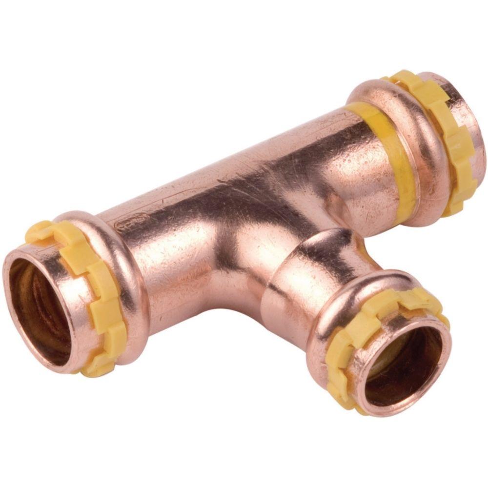 Comap té réduit à sertir - pour tube cuivre - gaz - diamètre 18 - 16 - 18 mm - comap 5130rvg181618