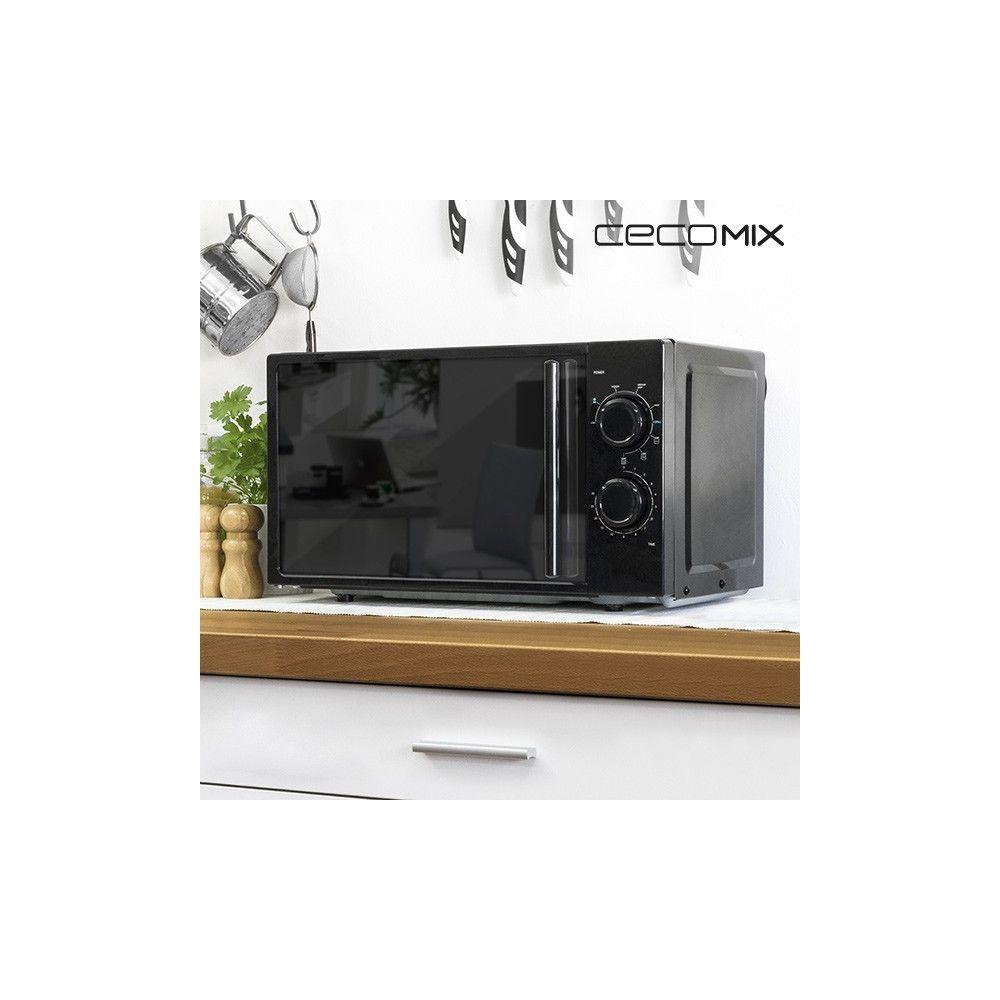 Totalcadeau Micro-ondes avec grill à effet miroir 20 L 700W noir - Electroménagers