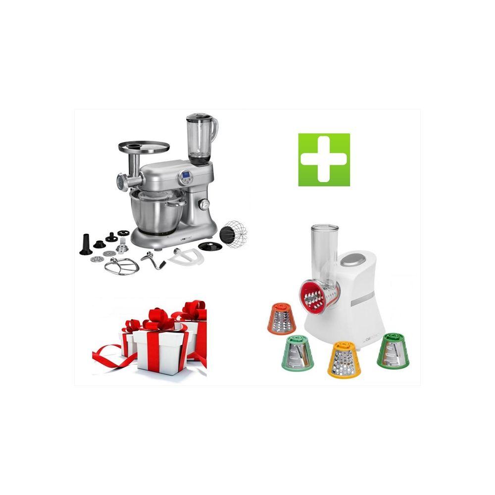 Clatronic Pack - Robot pétrin pâtissier Cuiseur Revolution 5EN1 KM 3476 Multifonctions 2000W