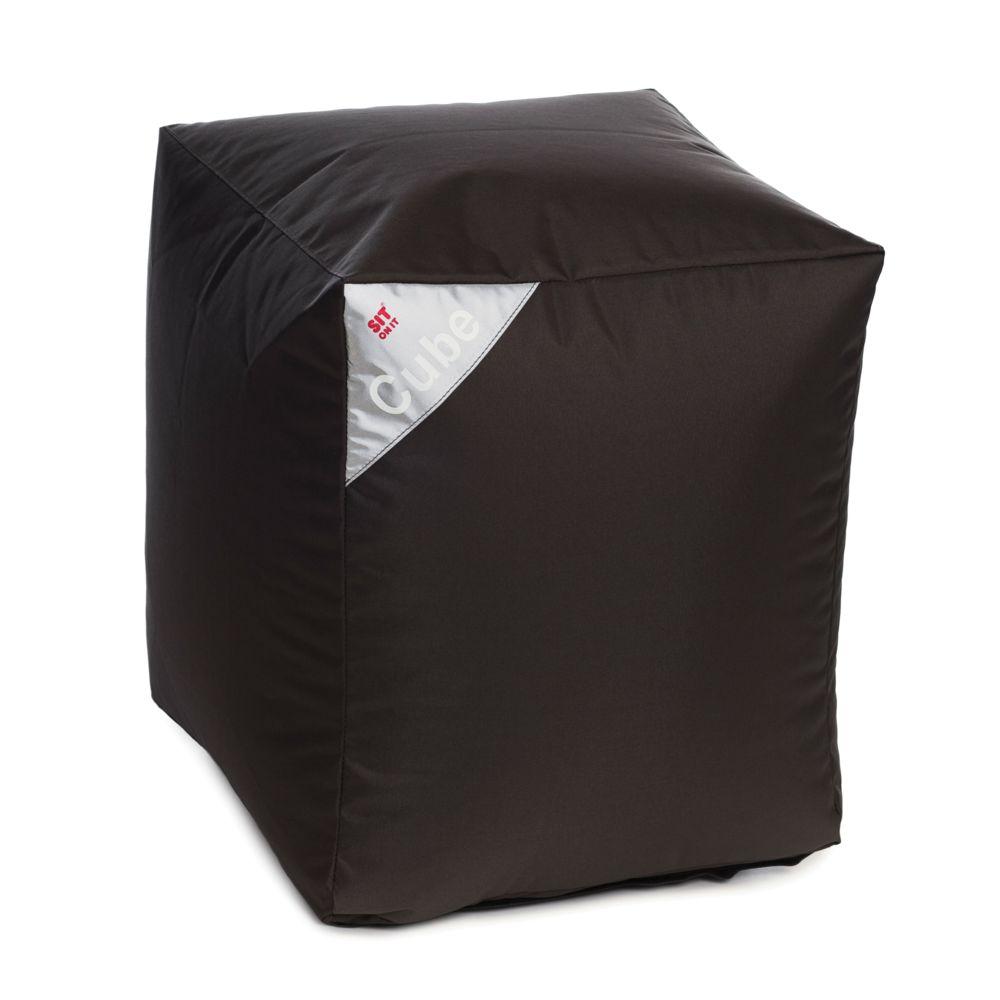 Rendez Vous Deco Pouf Cube gris foncé