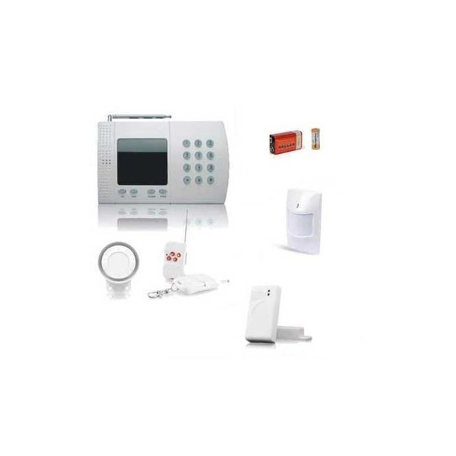 Alarme connectée Securitegooddeal Kit alarme sans fil de maison,  6 Zones Easy BOX