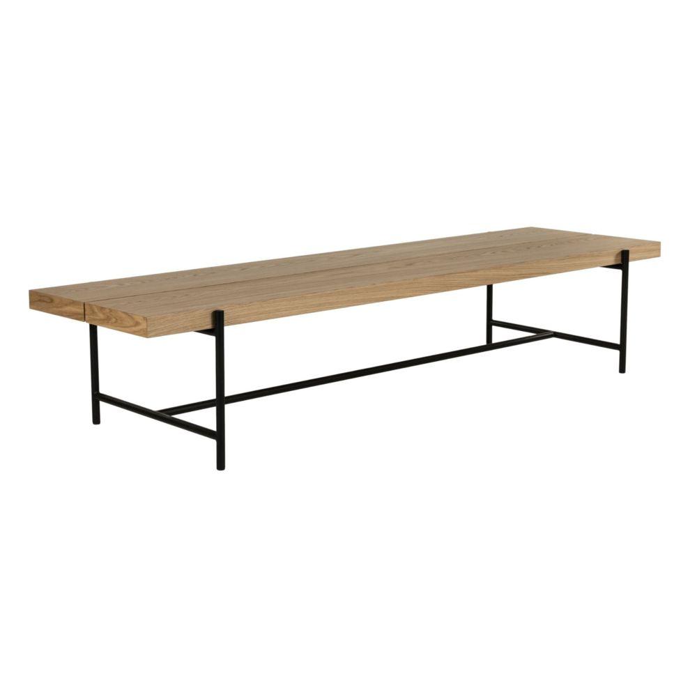 HELLIN TABLE BASSE MODERNE EN BOIS ET METAL - BRIGHTON