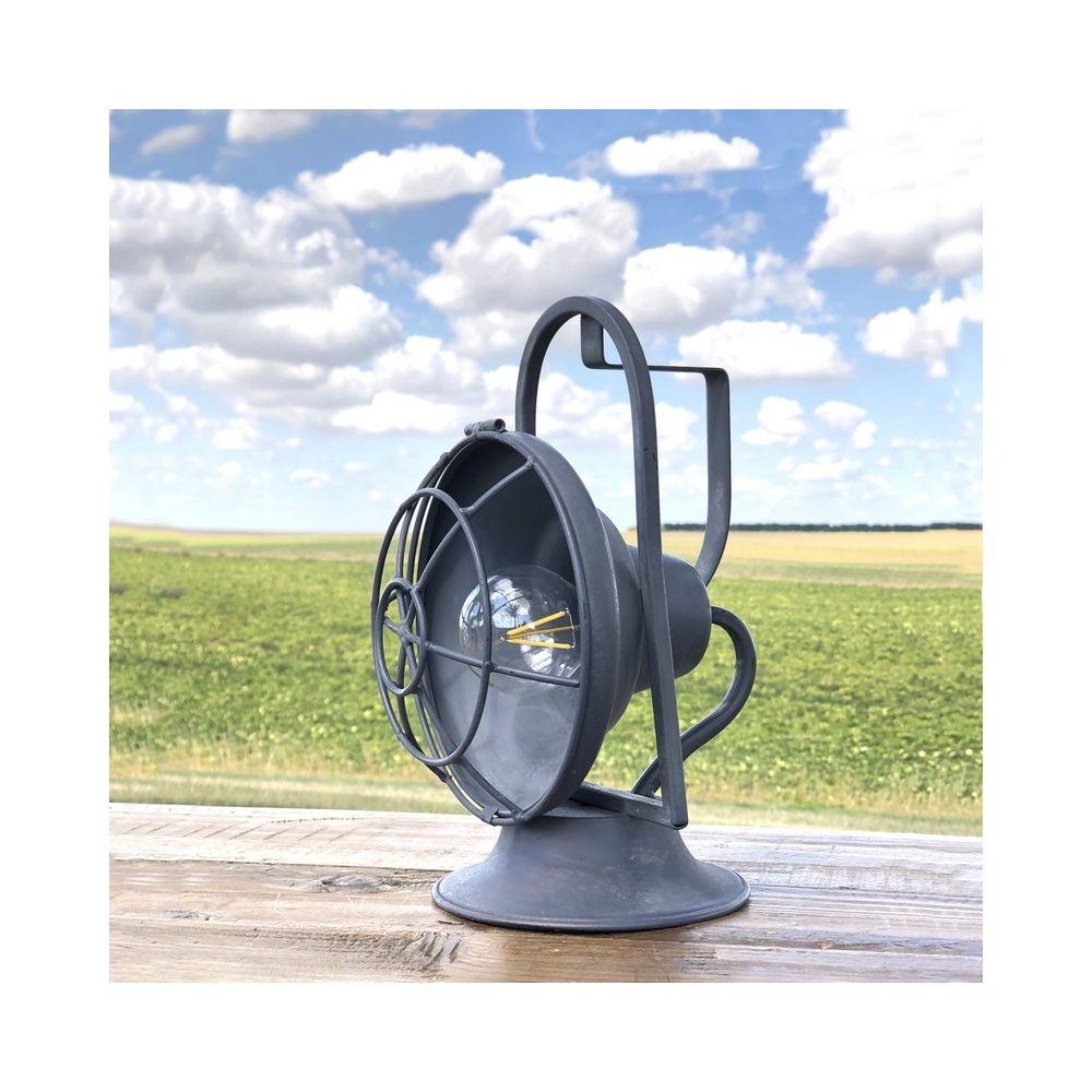 L'Originale Deco Lanterne Led Fer Style Tempête Ancienne 26.50 cm x 20 cm x 18 cm