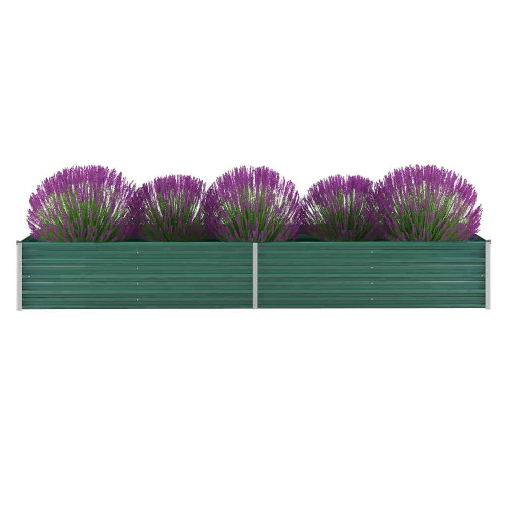 Uco UCO Lit surélevé de jardin Acier galvanisé 320x80x45 cm Vert