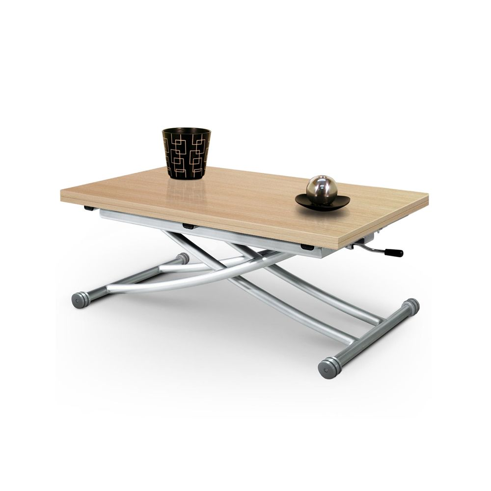 Giovanni Table basse relevable Mirage chêne clair