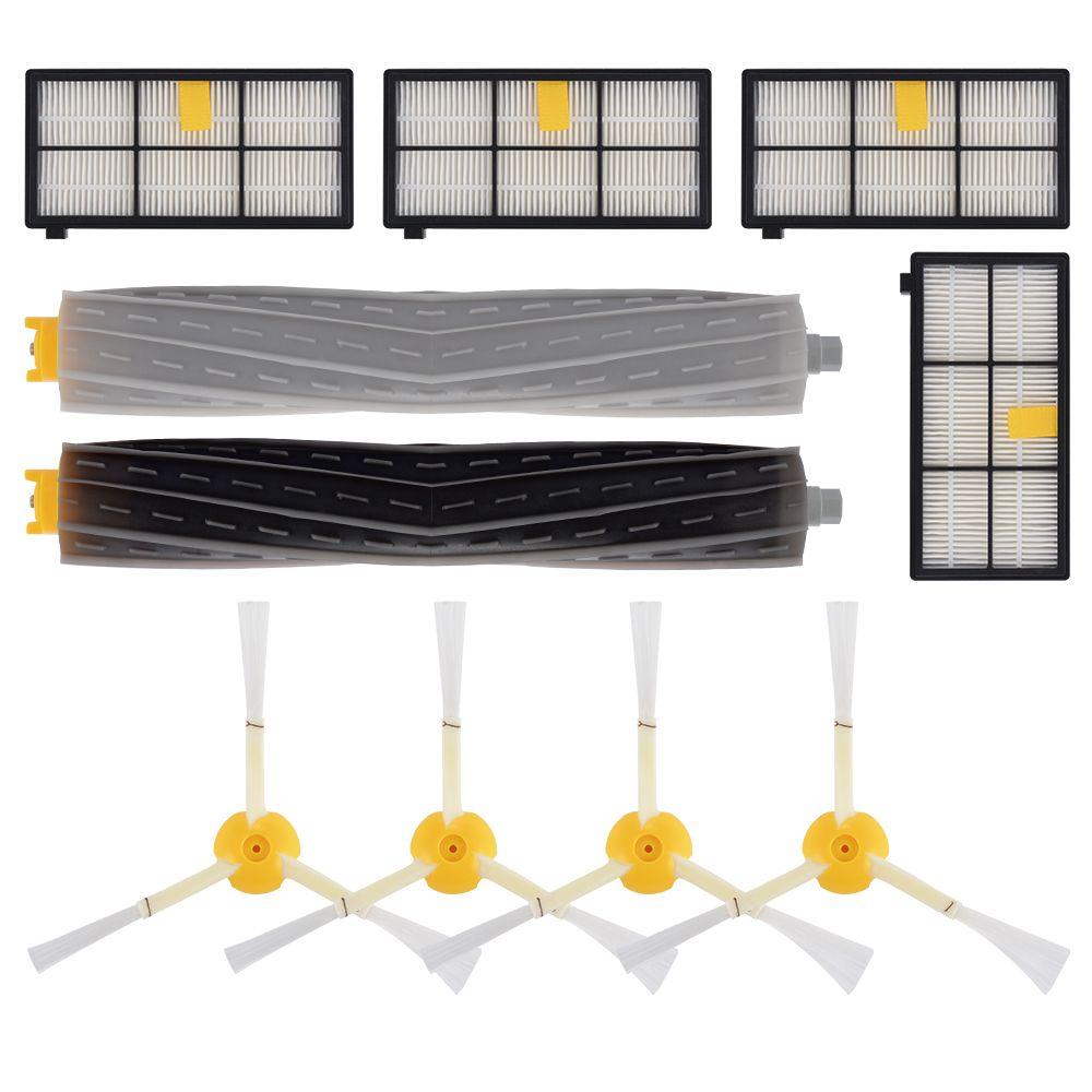Xcsource XCSOURCE 10pcs pièce de rechange kit filtre à brosse pour iRobot Roomba 800 805 870 871 série 880 robots aspirateurs HS1