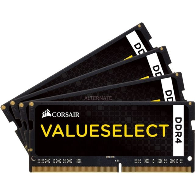 Corsair - CORSAIR Mac Memory SO-DIMM 64 Go (4x 16 Go) DDR4 2666 MHz CL18 - Corsair