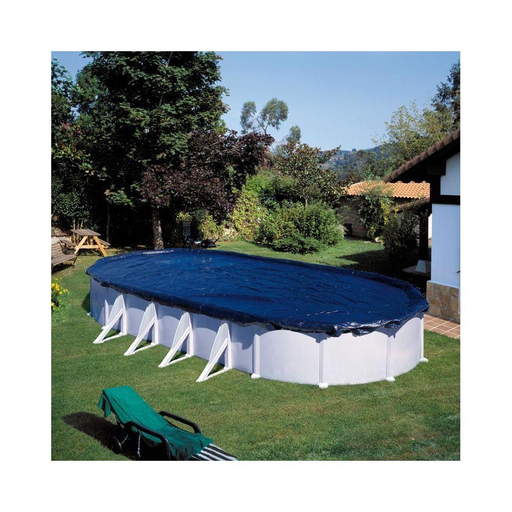 Gre Bâche hivernage pour piscine ovale 120g /m² 6,80 x 4,60 m