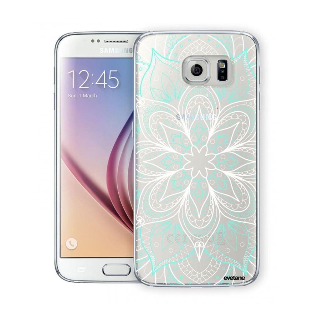 Evetane - Coque Samsung Galaxy S6 Edge rigide transparente Mandala ...