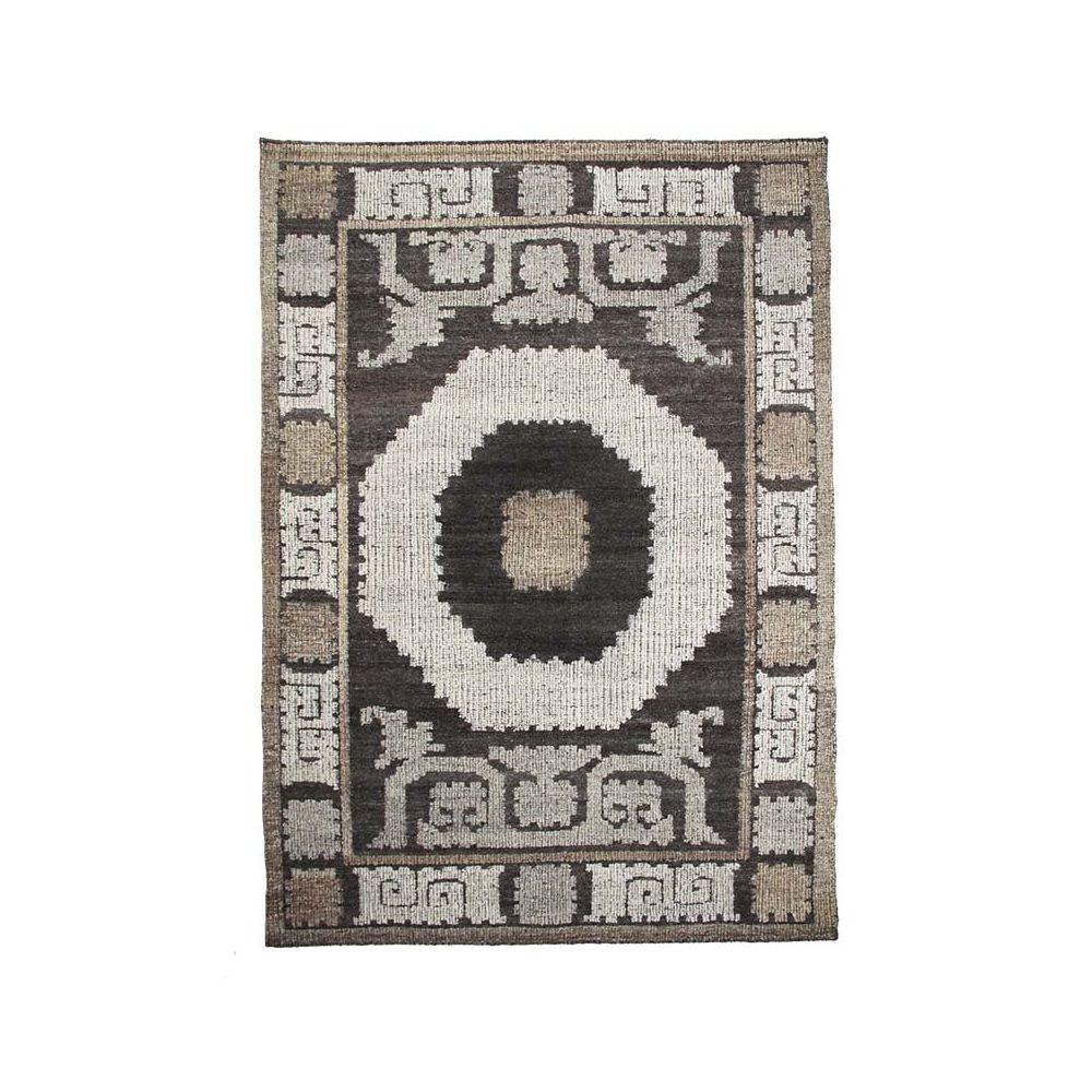 Mon Beau Tapis KILIM - Tapis en laine fait main motifs ethniques taupe 160x230