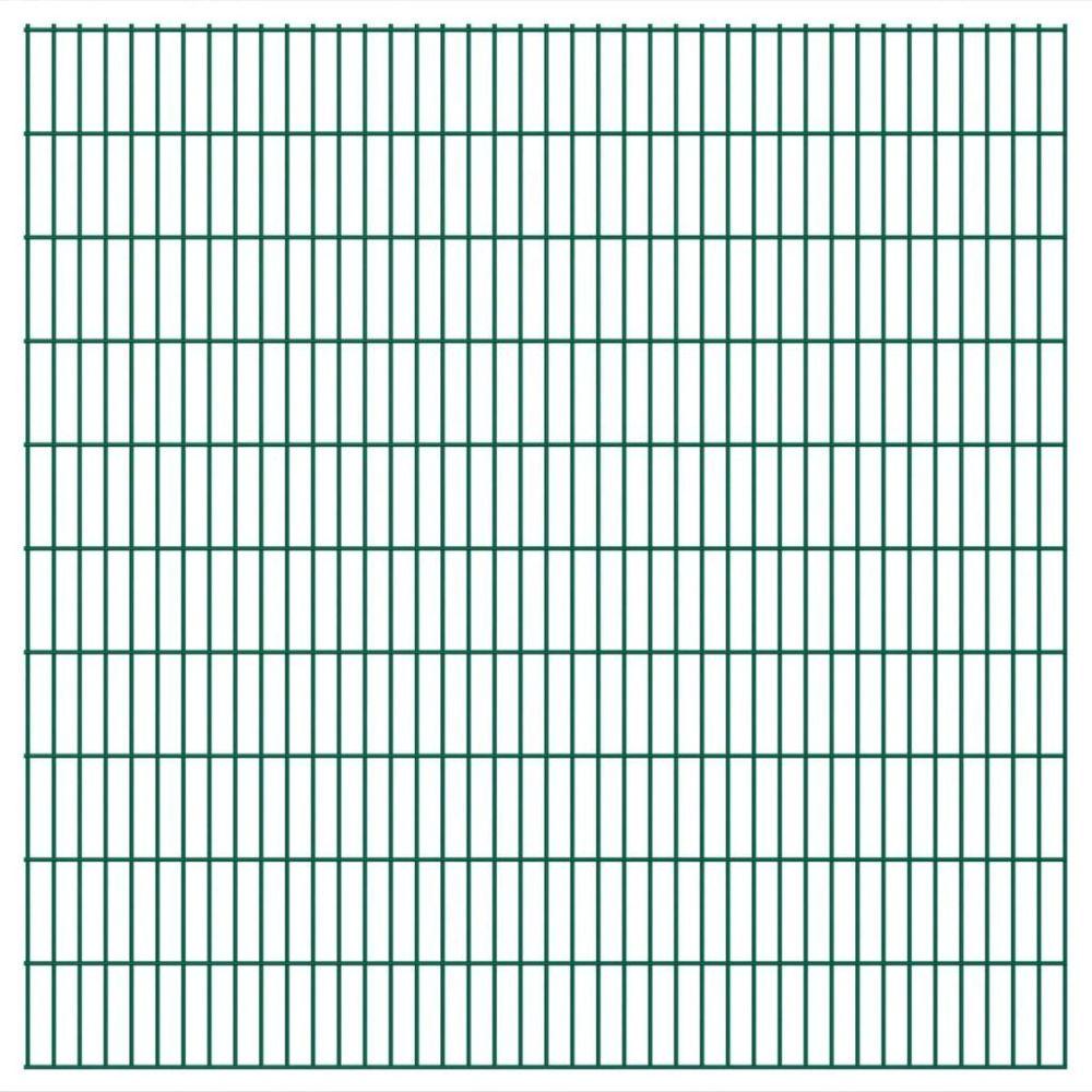 Vidaxl Panneaux de clôture 2 D de jardin 2008 x 2030 mm 10 m Vert   Vert
