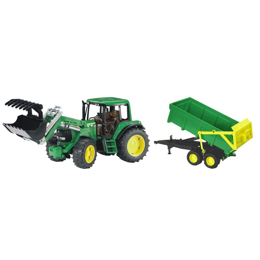 Bruder Bruder 01134 Tracteur John Deere 6920 avec chargeur frontal et remorque bennable