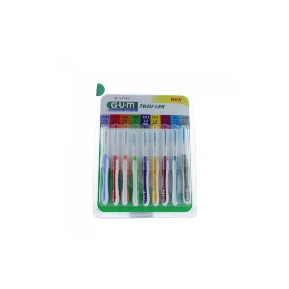 Gum GUM Travler Pack Interdentaires 9 brossettes