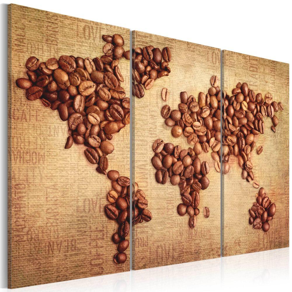 Declina Tableau - Cafés du monde - triptyque