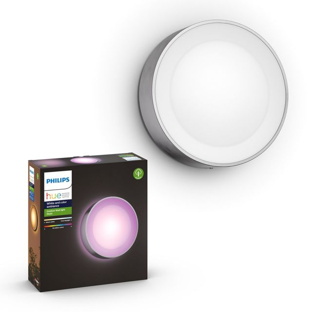 Philips Hue - White & Color Ambiance DAYLO Applique 1x15W - Inox - Lampe connectée