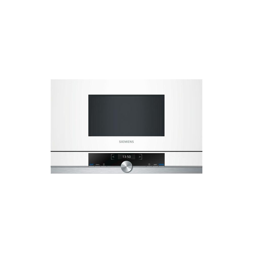 Siemens siemens - micro-ondes encastrable 21l 900w blanc - bf634lgw1