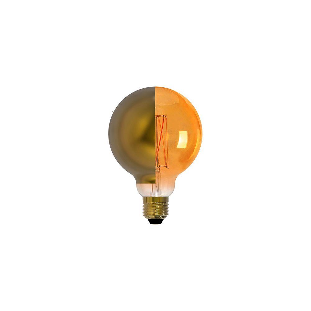 Girard Sudron Globe D95 calotte latérale dorée filament LED 8W E27 2700K 806Lm dim