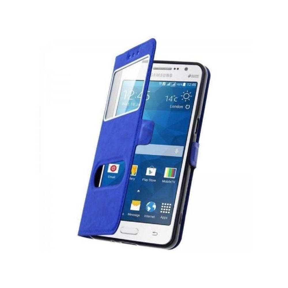 marque generique - Etui Housse Coque Pochette View Case Bleu Foncé pour Samsung Galaxy A5 2017