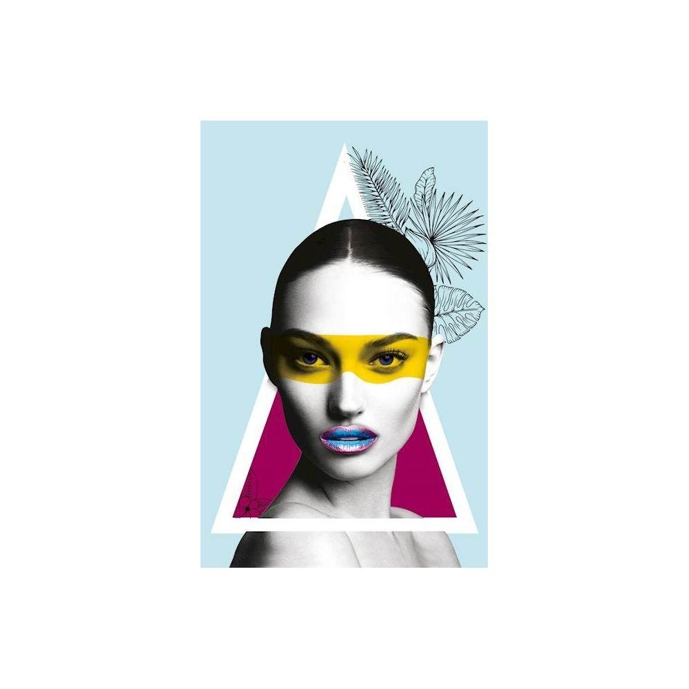 Homemania HOMEMANIA Tableau Limited Edition - Femme - Plumage - pour Séjour, Chambre - Multicolore en Coton, Bois, 45 x 2 x 70 cm