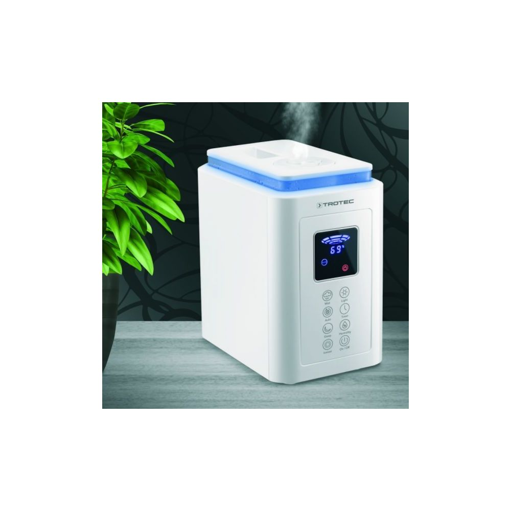 Trotec Humidificateur d'air à ultrasons de 4L pour 30 m²