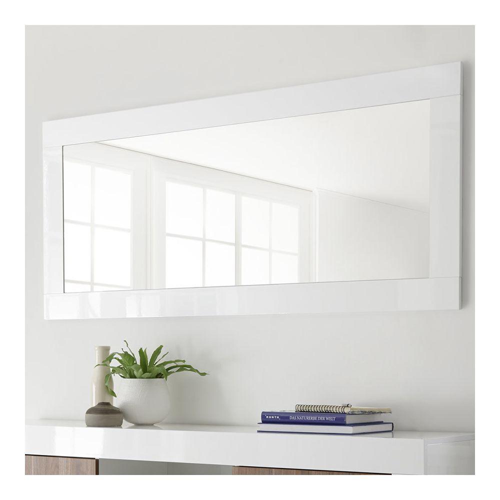 Kasalinea Miroir mural blanc laqué MABEL