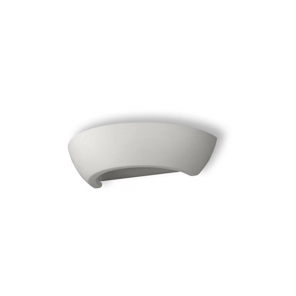 Luminaire Center Applique murale OSKAR céramique/verre blanc 1 ampoule