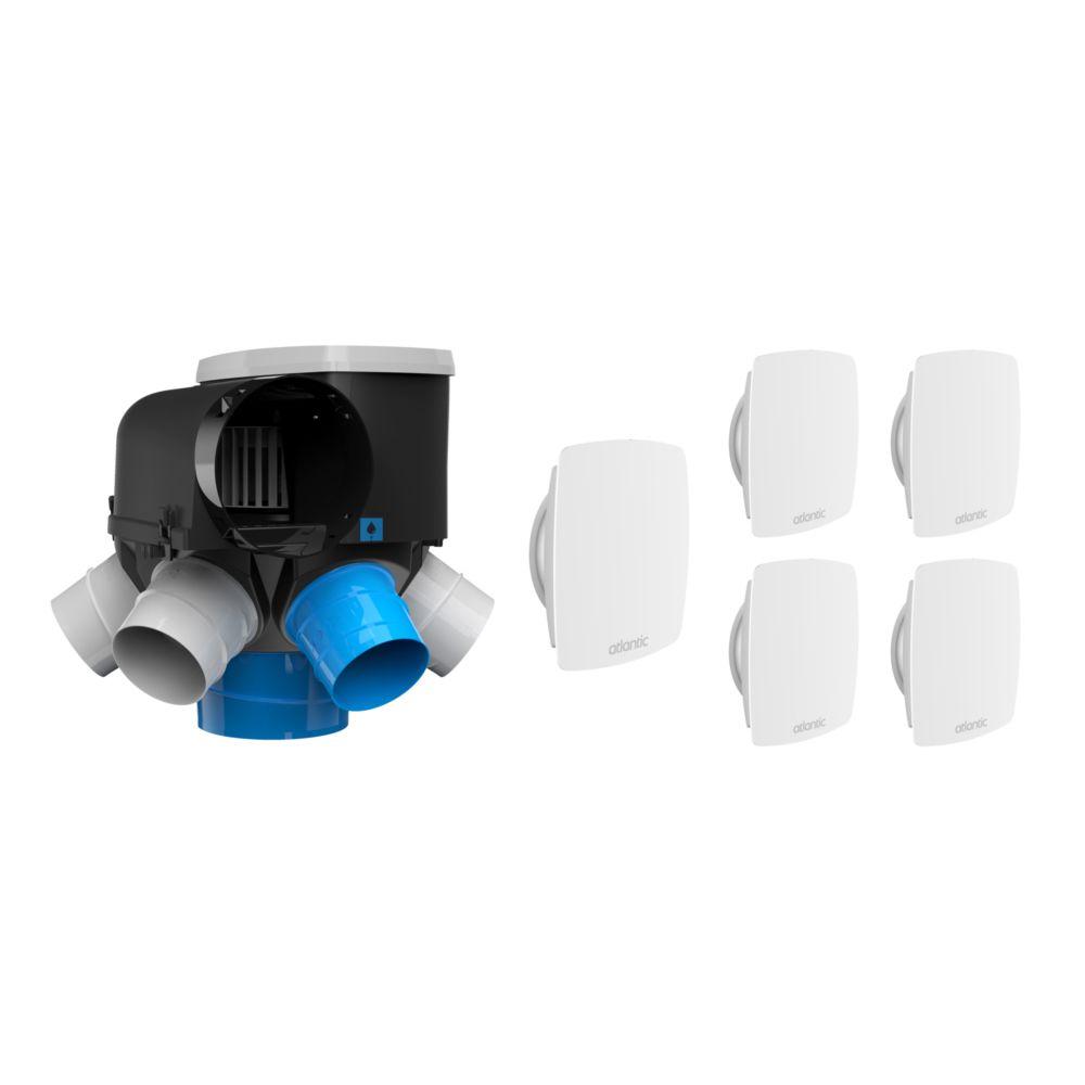 Atlantic VMC simple flux autoréglable intelligente kit Autocosy IH - Atlantic - 6 sanitaires
