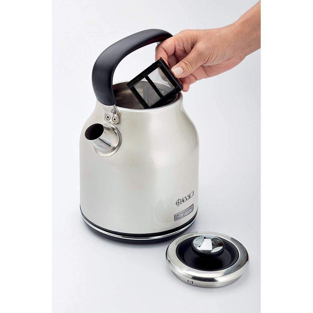 Ariete bouilloire électrique de 1,7L sans fil 2000W gris