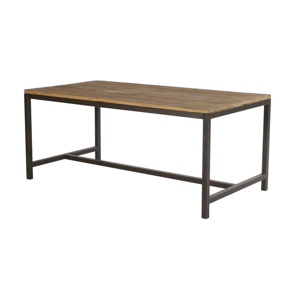 HELLIN Table en bois et métal - AGED