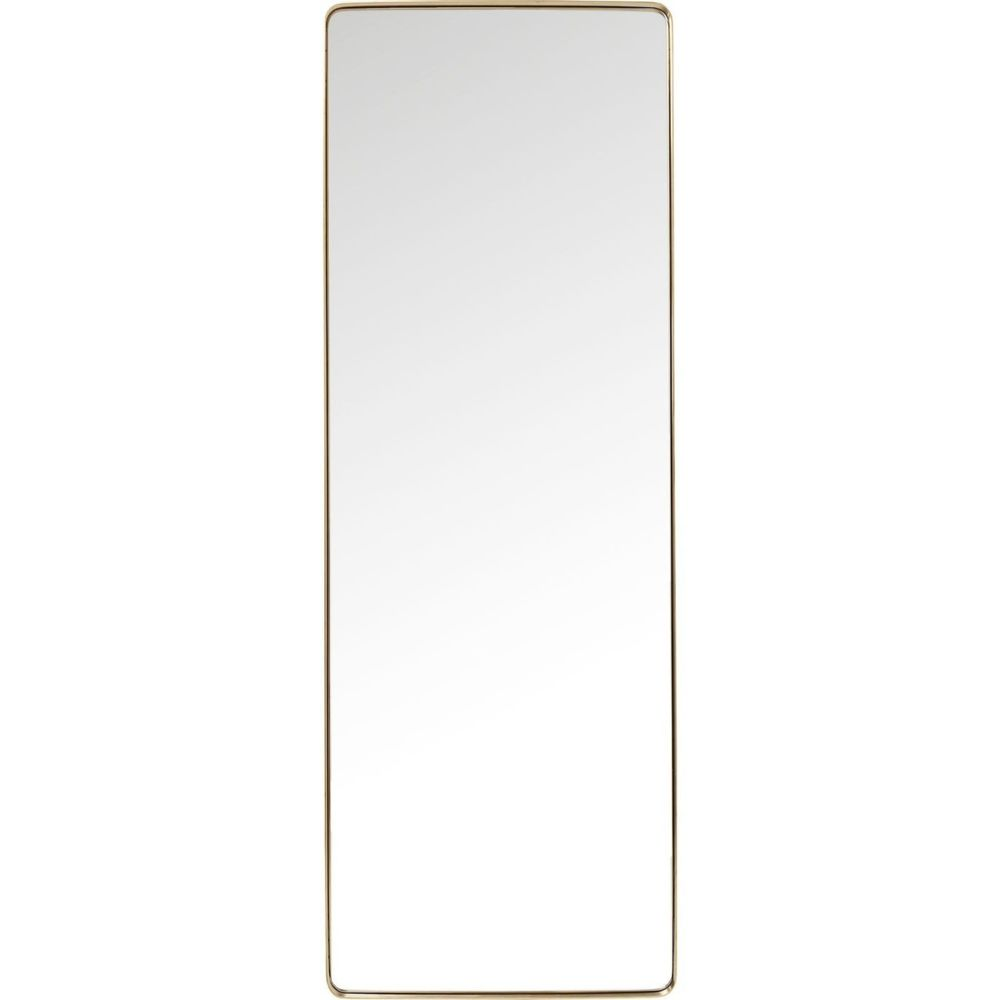 Karedesign Miroir Curve rectangulaire laiton 200x70cm Kare Design
