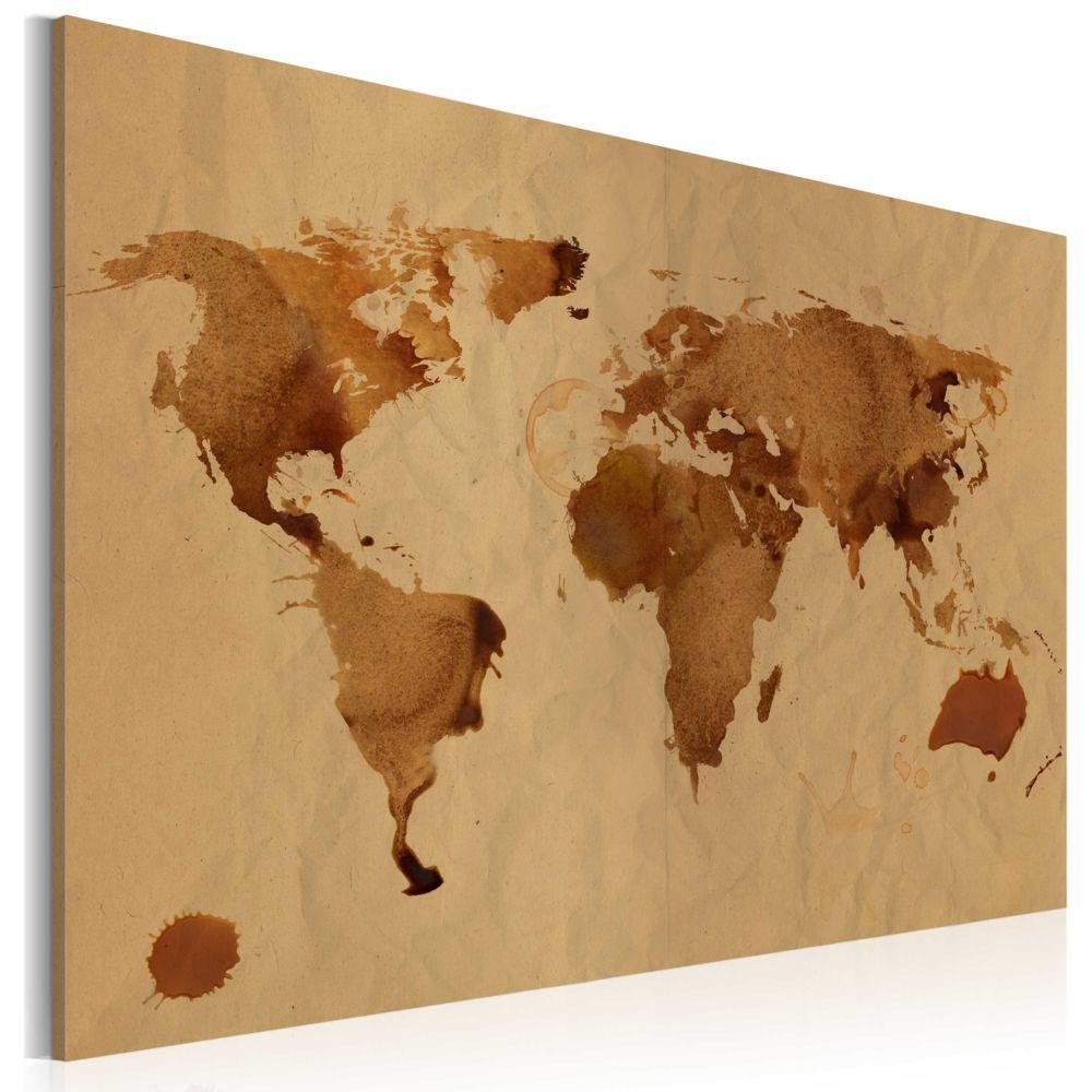 Declina Tableau - Le monde peint avec du café