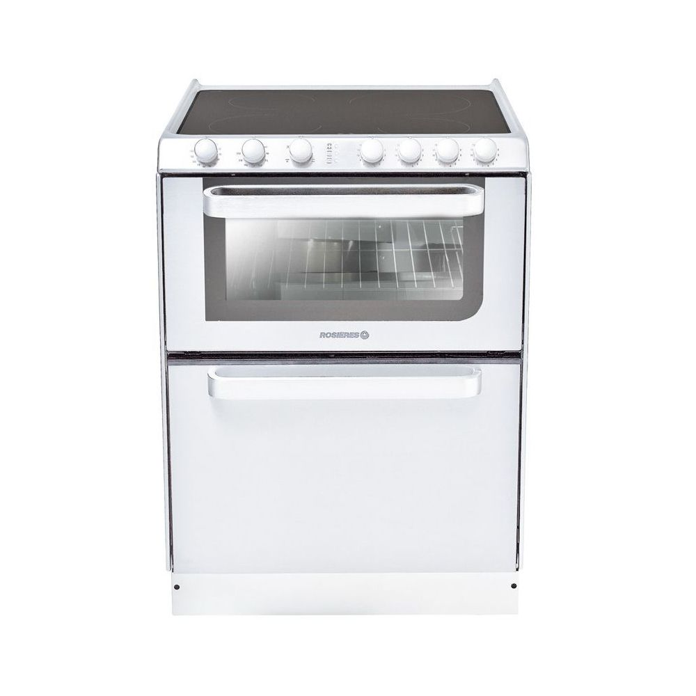 Rosieres rosieres - cuisinière vitrocéramique 4 feux combiné lave-vaisselle 6c - trv60rb/u