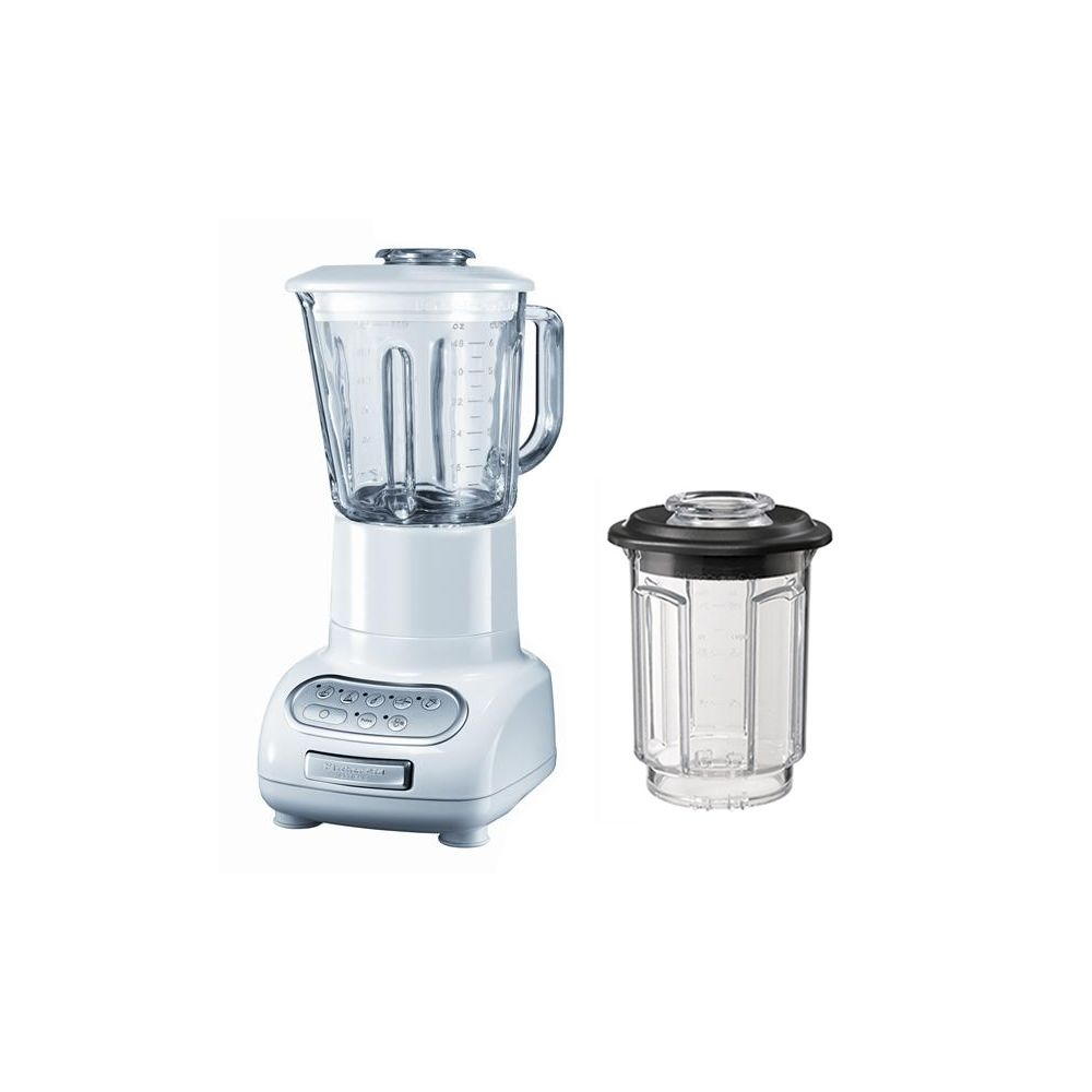 Kitchenaid kitchenaid - blender/mixeur 1,5l 550w avec bol en verre + bol 0.75l - 5ksb5553 ewh