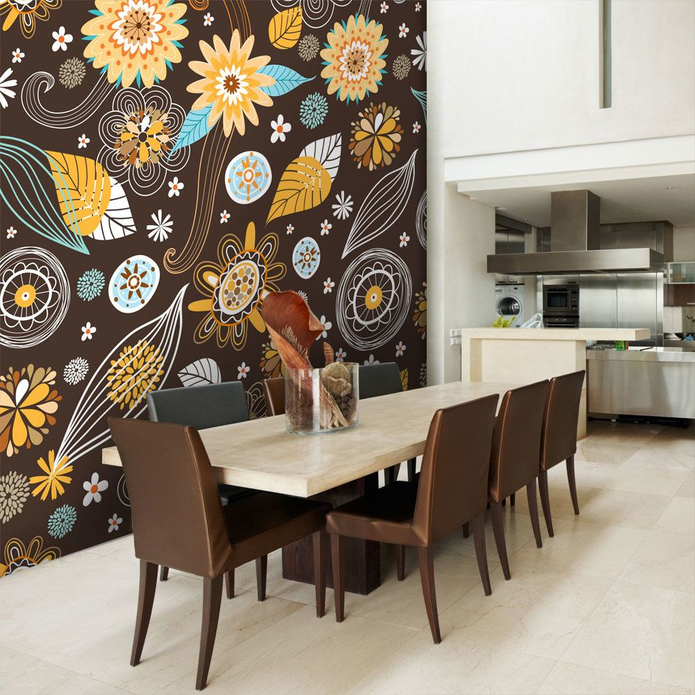 Bimago Papier peint - Fleurs transparentes - Décoration, image, art   Fonds et Dessins   Motifs floraux  