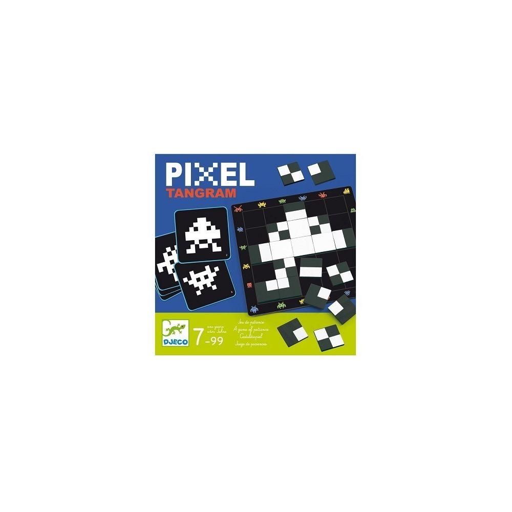Djeco Casse tete Pixel Tangram 30 défis - Jeu de reflexion 7 a 99 ans - Djeco
