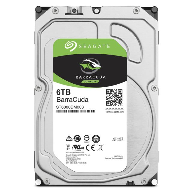 Seagate - Barracuda 6 To - 3.5'' SATA III 6 Go/s - Cache 256 Mo - Disque Dur interne