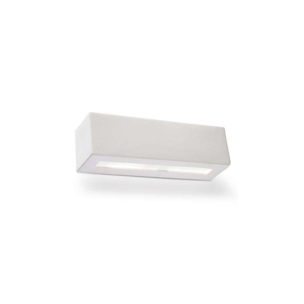 Luminaire Center Applique murale VEGA céramique/verre blanc 1 ampoule