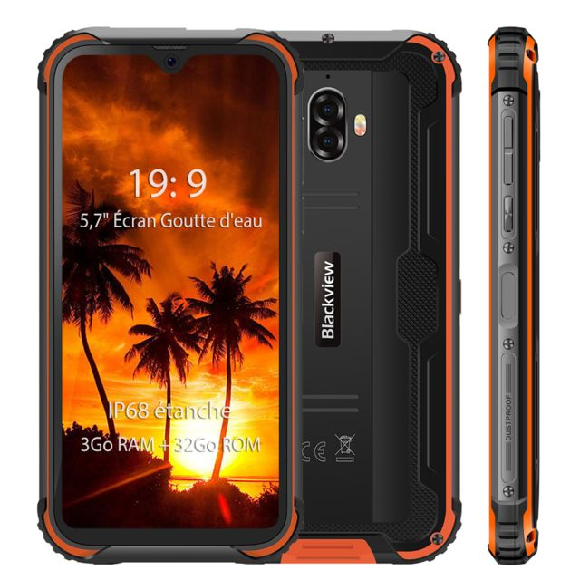 Blackview - Smartphone IP68 étanche 4G Blackview BV5900 5.7'' Écran 3Go Ram 32Go Rom Android 9.0 Téléphone portable Incassable 13MP Camera  - Orange - Smartphone Android