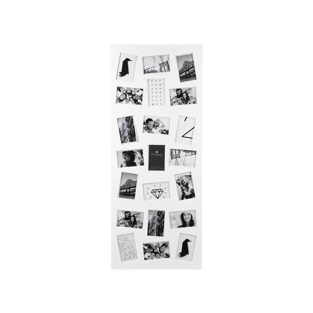 Atmosphera, Createur D'Interie Cadre pêle-mêle 21 photos - Blanc - Atmosphera
