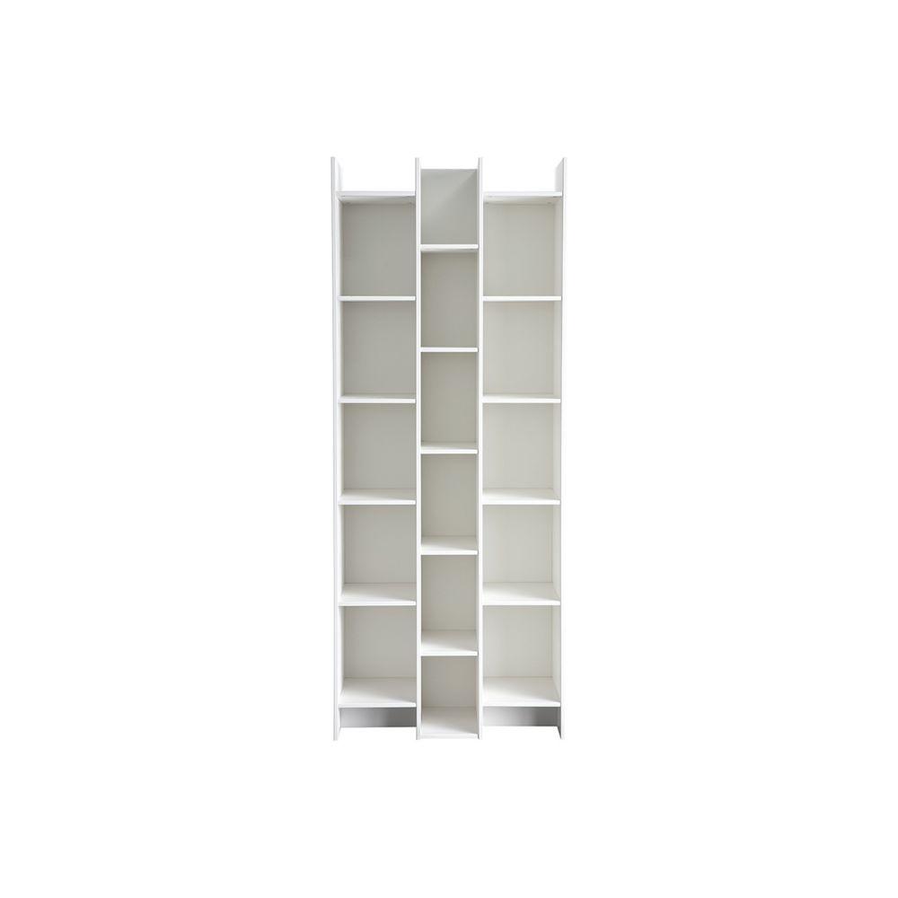 Miliboo Bibliothèque design bois blanc CLIMB