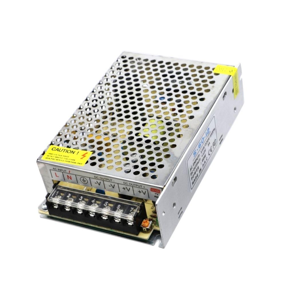 Wewoo Contrôleur LED MINI 5A AC 110V-220V à DC 12V Alimentation à découpage Transformateur régulé universel pour bande