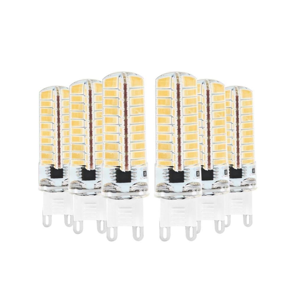 Wewoo Ampoule LED SMD 5730 6PCS G9 5W CA 220-240V 80LEDs SMD 5730 à économie d'énergie Maïs Light (Blanc Chaud)